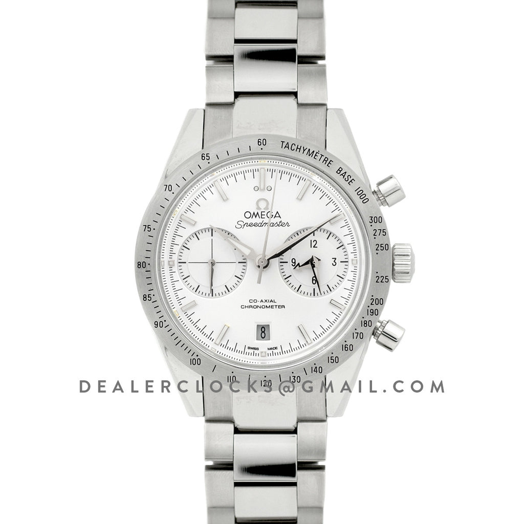 Speedmaster '57 Co-Axial White/Silver Dial on Steel Bracelet