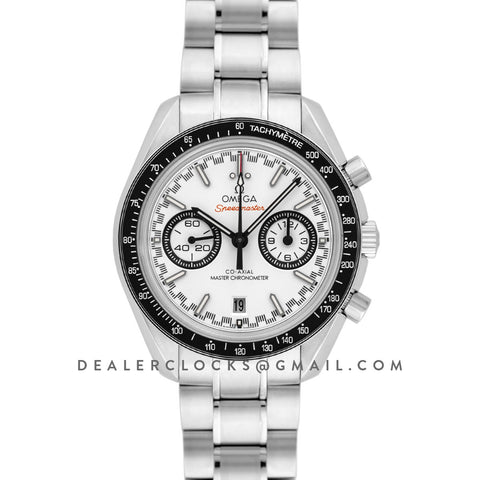 Racing Omega Co-Axial Master Chronometer White Dial in Steel