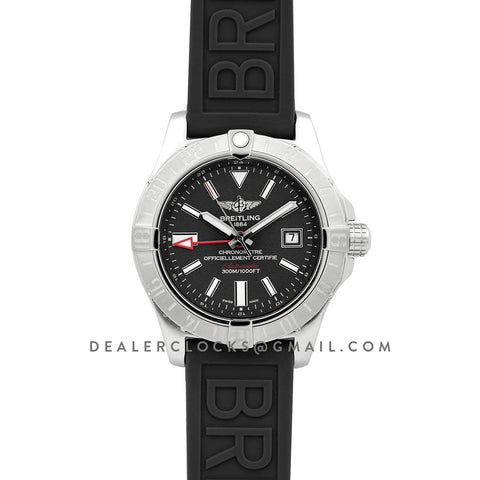 Avenger II GMT Black Dial in Steel