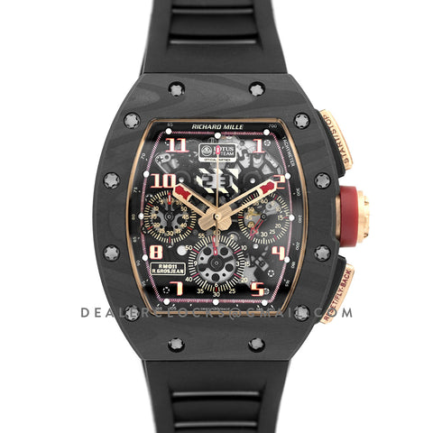 RM 011 Automatic Flyback Chronograph NTPT LOTUS F1 Team Romain Grosjean in Rose Gold