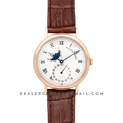 Classique Moonphrase White Dial in Rose Gold