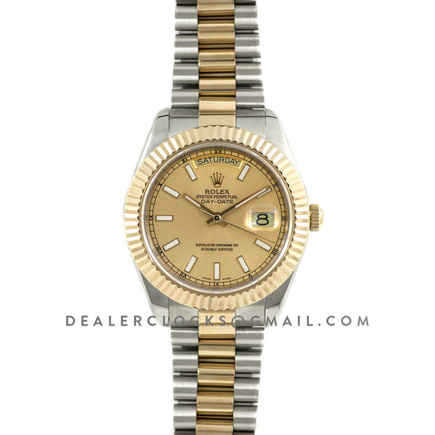 Day-Date II 116333 Champagne Gold Dial Two-Tone