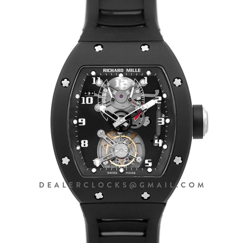 RM 001 Tourbillion in Black Ceramic