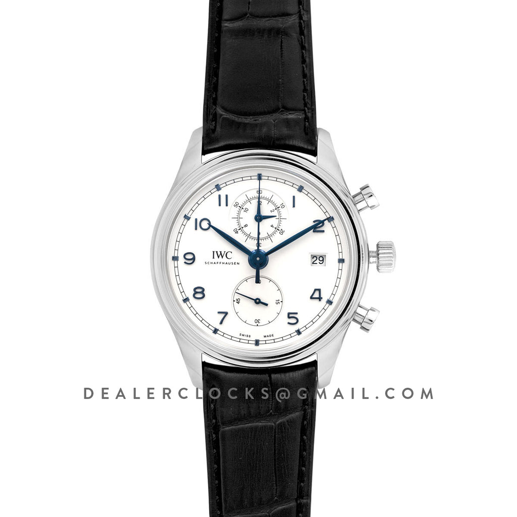 Portugieser Chronograph Classic IW390302 White Dial in Steel