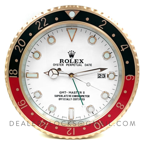 XL GMT Master II Series Rose Gold (Black/Red Bezel)