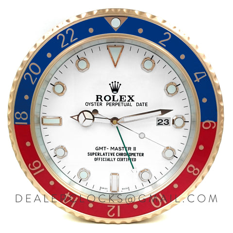 XL GMT Master II Series Rose Gold (Blue/Red Bezel)