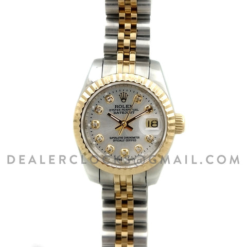 Datejust Ladies 69173 Dual Tone Steel/Gold with Diamonds