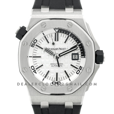 Royal Oak Offshore Diver Steel White Dial