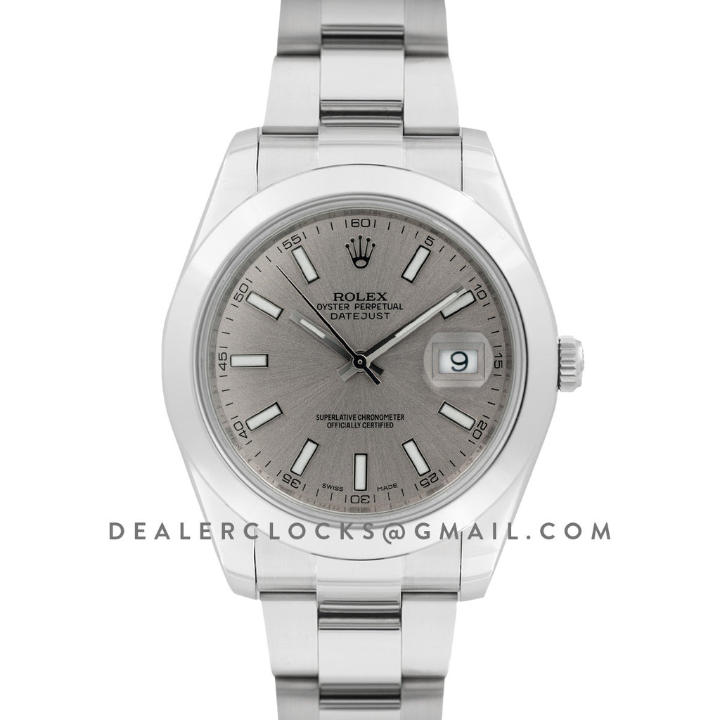 Datejust II 116300 Silver Dial Stick Markers