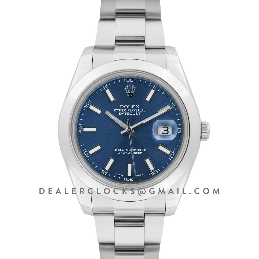 Datejust II 116300 Blue Dial Stick Markers