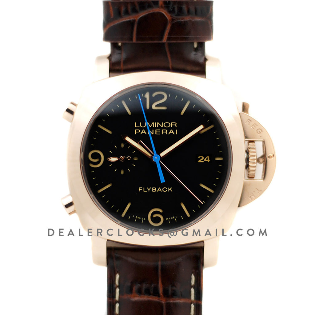 PAM525 Luminor 1950 3 Days Chrono Flyback Automatic Oro Rosso