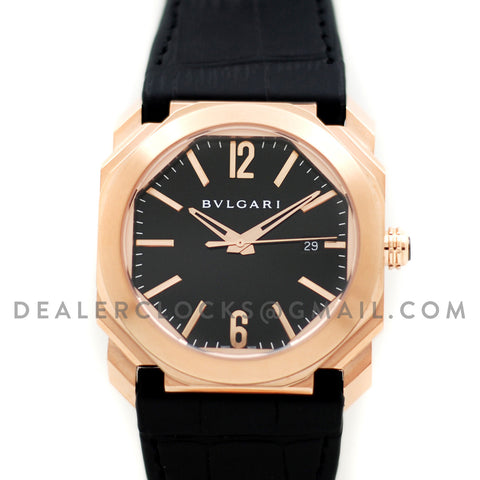Octo Solotempo Rose Gold Black Dial