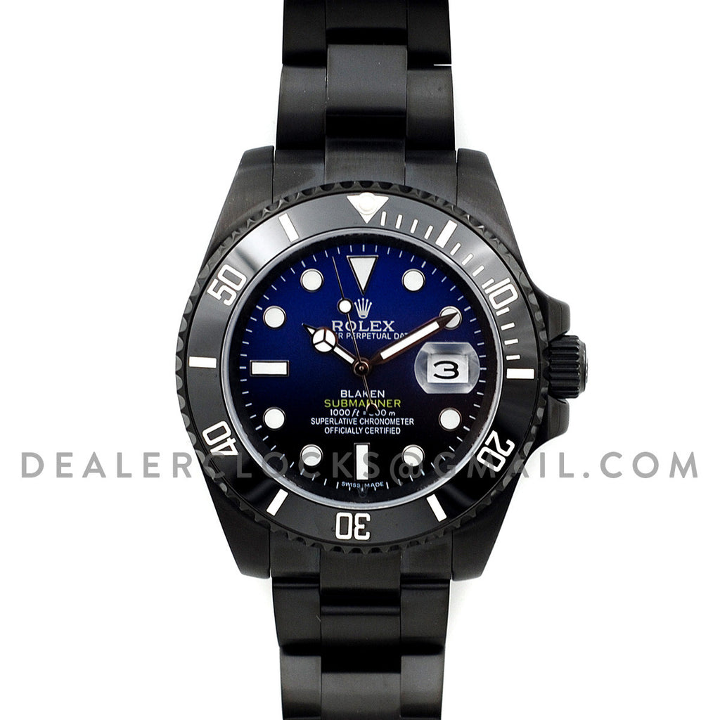 Blaken Submariner D Blue PVD Steel
