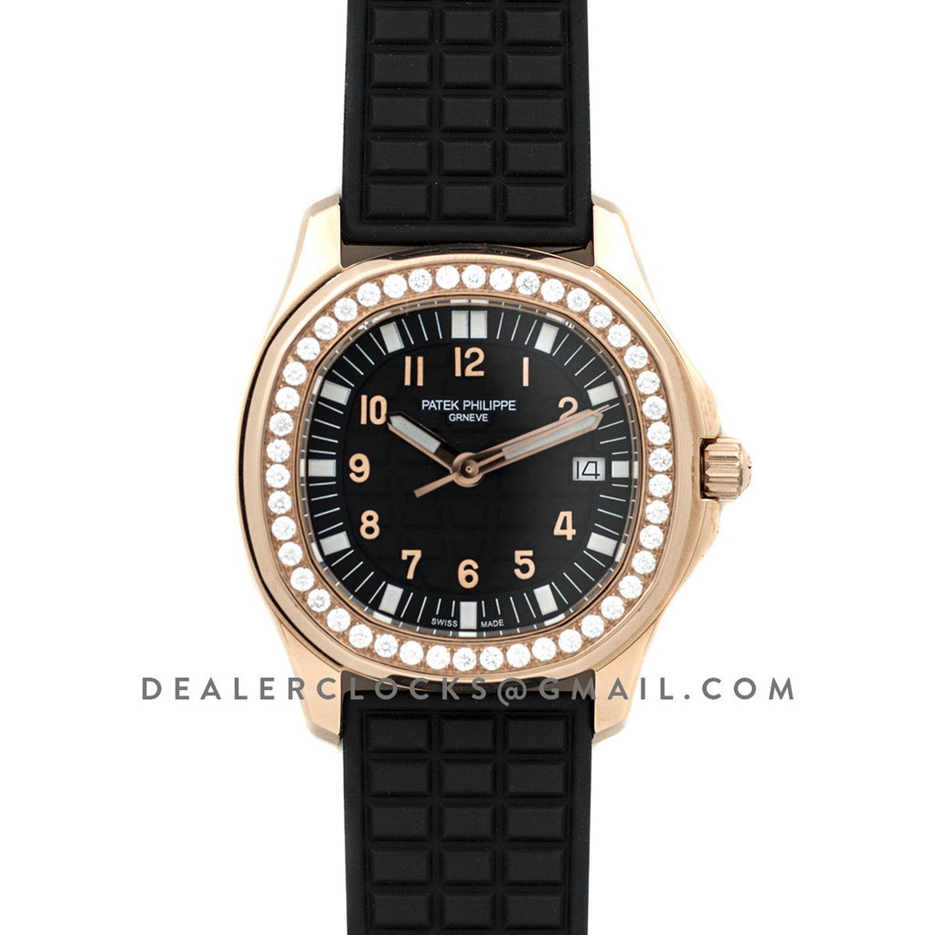 Aquanaut Luce 5068R Black dial in Rose Gold