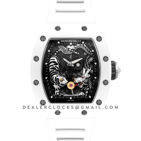 RM 051-01 Tourbillion Tiger and Dragon White Ceramic