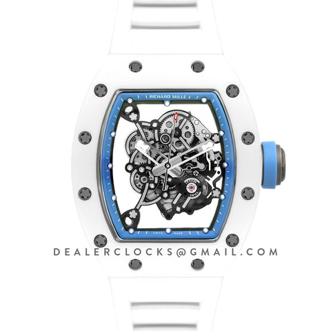 RM 055 White Bubba Watson White Ceramic Asia Edition in Blue