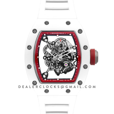 RM 055 White Bubba Watson White Ceramic Asia Edition in Red