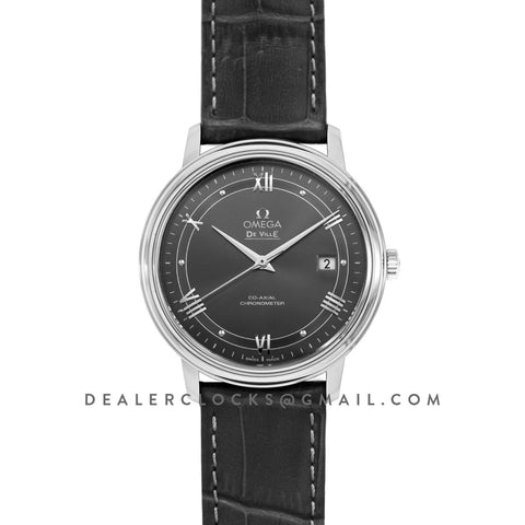 De Ville Co-Axial Chronometer Grey Dial in Steel