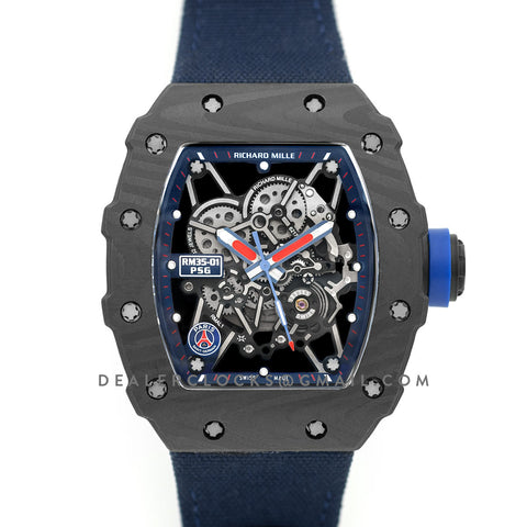 RM 035-02 Paris Saint-Germain PSG Special Edition on Navy Nylon Strap