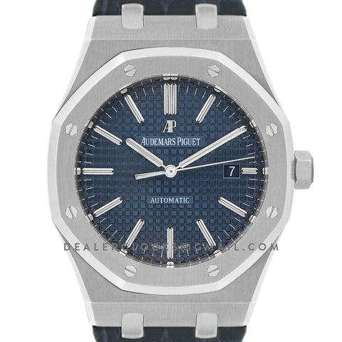 Royal Oak 15400 Steel Blue Dial on Leather Strap