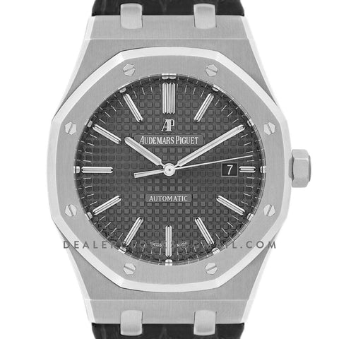 Royal Oak 15400 Steel Grey Dial on Leather Strap