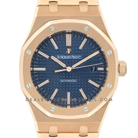 Royal Oak 15400 Rose Gold Blue Dial