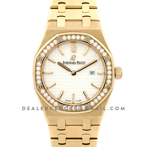 Lady Royal Oak 67651BA Gold White Dial