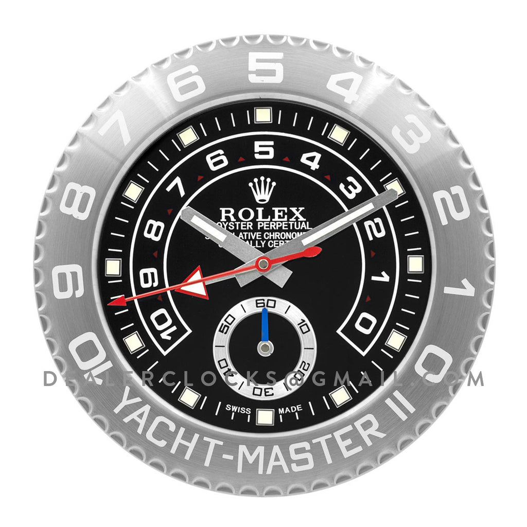 Yacht-Master II Black Dial in Platinum