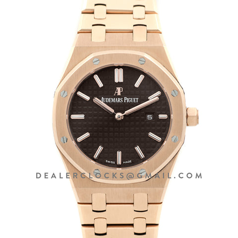 Lady Royal Oak 67650OR Rose Gold Brown Dial