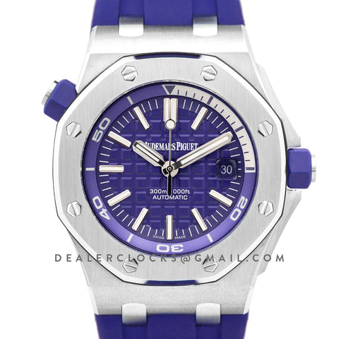 Royal Oak Offshore Diver Steel Purple Dial 15710ST