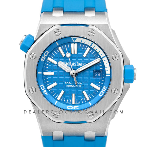 Royal Oak Offshore Diver Steel Turquoise Blue Dial 15710ST