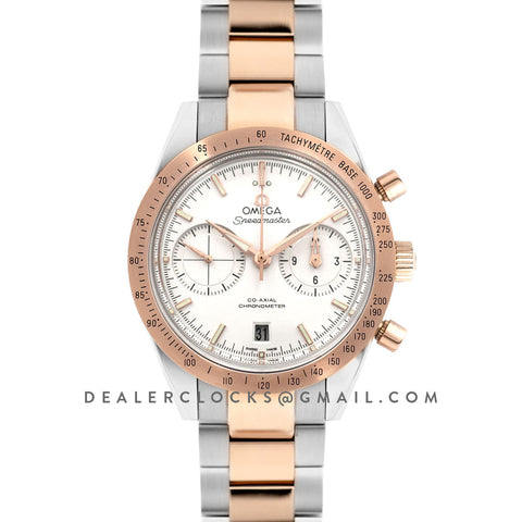 Speedmaster '57 Co-Axial Black Dial in Rose Gold/Steel on 2 Tone Bracelet