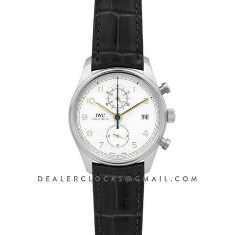 Portugieser Chronograph Classic IW3903 White Dial in Steel