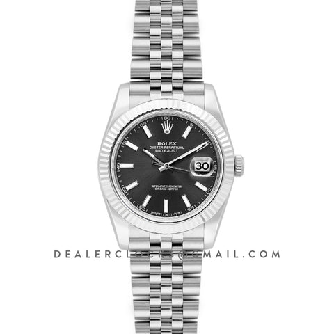 Datejust 41 126334 Grey Dial Stick Markers in White Gold