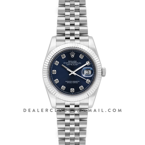 Datejust 36 116234 Blue Dial with Diamond Markers