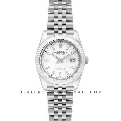 Datejust 36 116234 White Dial with Stick Markers