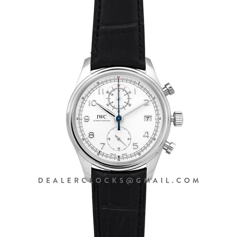 Portuguese Chronograph Series Classic IW390403 White Dial in Steel