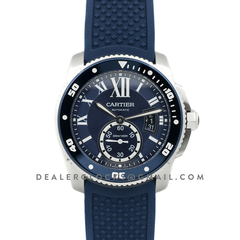 Calibre de Cartier Diver Blue Dial in Steel