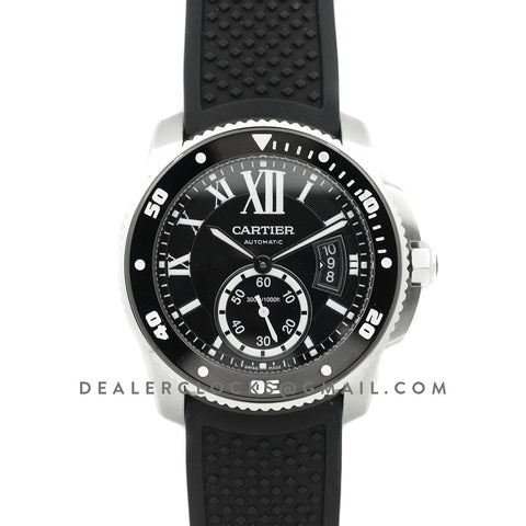 Calibre de Cartier Diver Black Dial in Steel