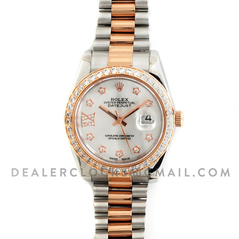 DateJust 116233 Steel / Rose Gold with Diamonds