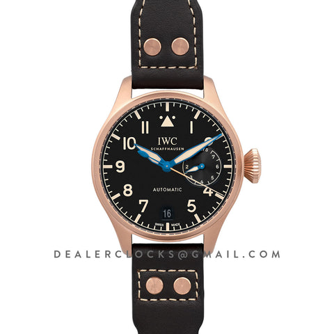 Big Pilot's Watch Heritage IW501005 Black Dial in Bronze