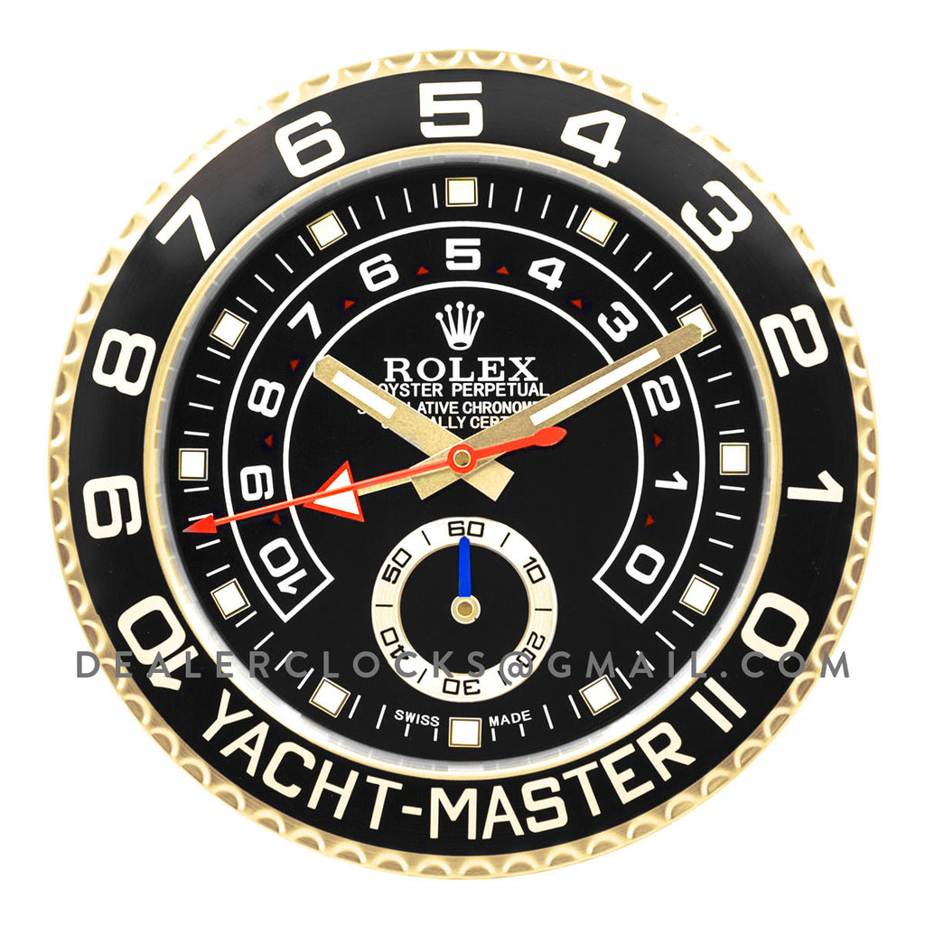Yacht-Master II Black Dial in Gold