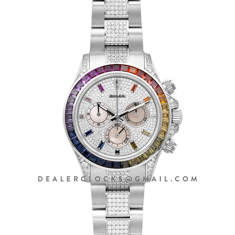 Daytona 116599RBOW in White Gold