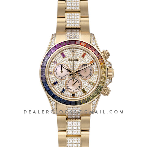 Daytona 116598RBOW in Yellow Gold