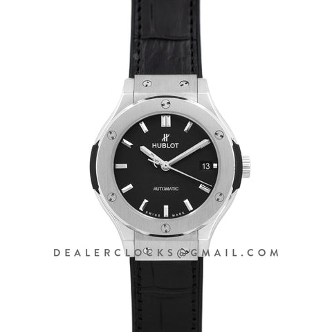 Classic Fusion Automatic 38mm Black Dial in Titanium