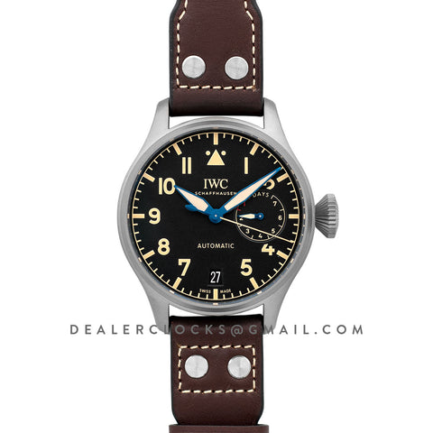 Big Pilot's Watch Heritage IW501004 Black Dial in Titanium