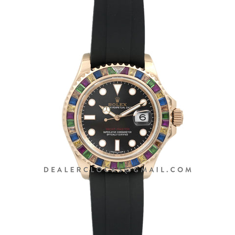 Yacht-Master 40 116695 SATS with Gem-Set Bezel