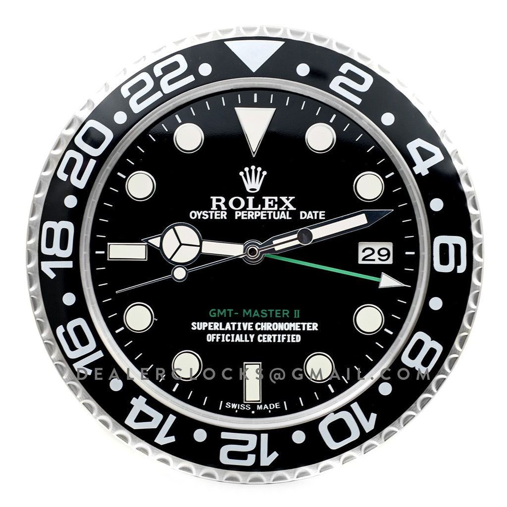 Rolex Gmt Master Ii Wall Clock Rx103 Dealer Clocks