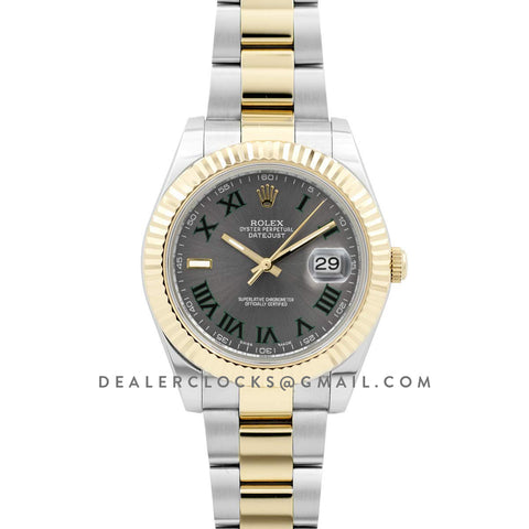 Datejust II 111497 Silver Dial in Gold/Steel with Roman Markers on Oyster Bracelet