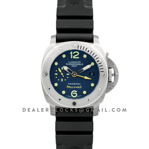 PAM719 Luminor Submersible 1950 3 Days GMT Titanium Pole2Pole Expedition
